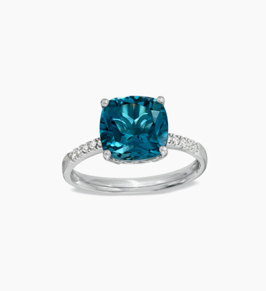 9.0mm-Cushion-Cut-London-Blue-Topaz-and-Diamond-Accent-Ring-in-Sterling-Silver