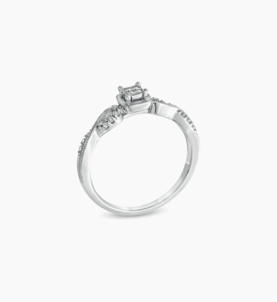 Princess-Cut-Quad-Diamond-Promise-Ring-in-Sterling-Silver